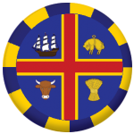 Adelaide Flag 25mm Button Badge